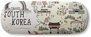 South Korea Map Landmarks Gl Case Eyegl Hard Shell Storage Spectacle Box