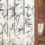 rabbitgoo 3D Vinilo Cristal para Ventanas Translúcida Autoadhesiva Vinilo Decorativa Bambu Patron Pegatina con Electricida Estática de Calor Control y Anti UV para Oficina Casa Privacidad 90x200CM