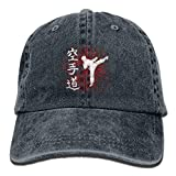Einst Karate Letter Gorro de Mezclilla Adjustable Female Plain Baseball Cap