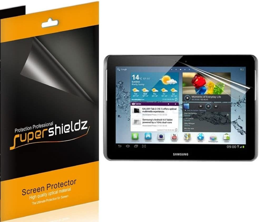 (3 Pack) Supershieldz Designed for Samsung Galaxy Tab 2 10.1 inch Screen Protector High Definition Clear Shield (PET)