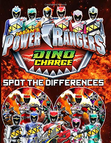 Power Ranger Dino Charge Spot The Difference: Impressive How Many Differences Activity Books For Adults Power Ranger Dino Charge A Fun Gift