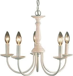 Volume Lighting V4515-6 5-Light White Chandelier, 18