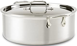 All-Clad 7508 MC2 Professional Master Chef 2 Stainless Steel Bi-Ply Bonded Oven Safe PFOA Free Stockpot with Lid Cookware, 8-Quart, Silver