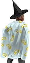YUIOP Deluxe Halloween Children Costume Macaroni and Cheese Pattern Wizard Witch Cloak Cape Robe and Hat Set
