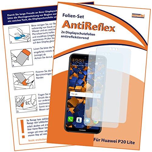 mumbi Schutzfolie kompatibel mit Huawei P20 Lite Folie matt, Displayschutzfolie (2X)