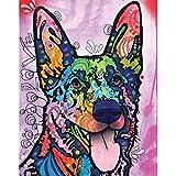 MyWonderfulWalls German Shepherd Pop Art Decal Shepherd Love by Dean Russo (L)