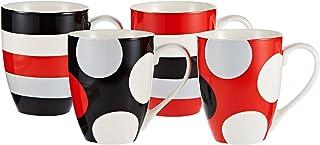 Symphony Big Time Mug Set of 4, 300 ml (Multicolor)