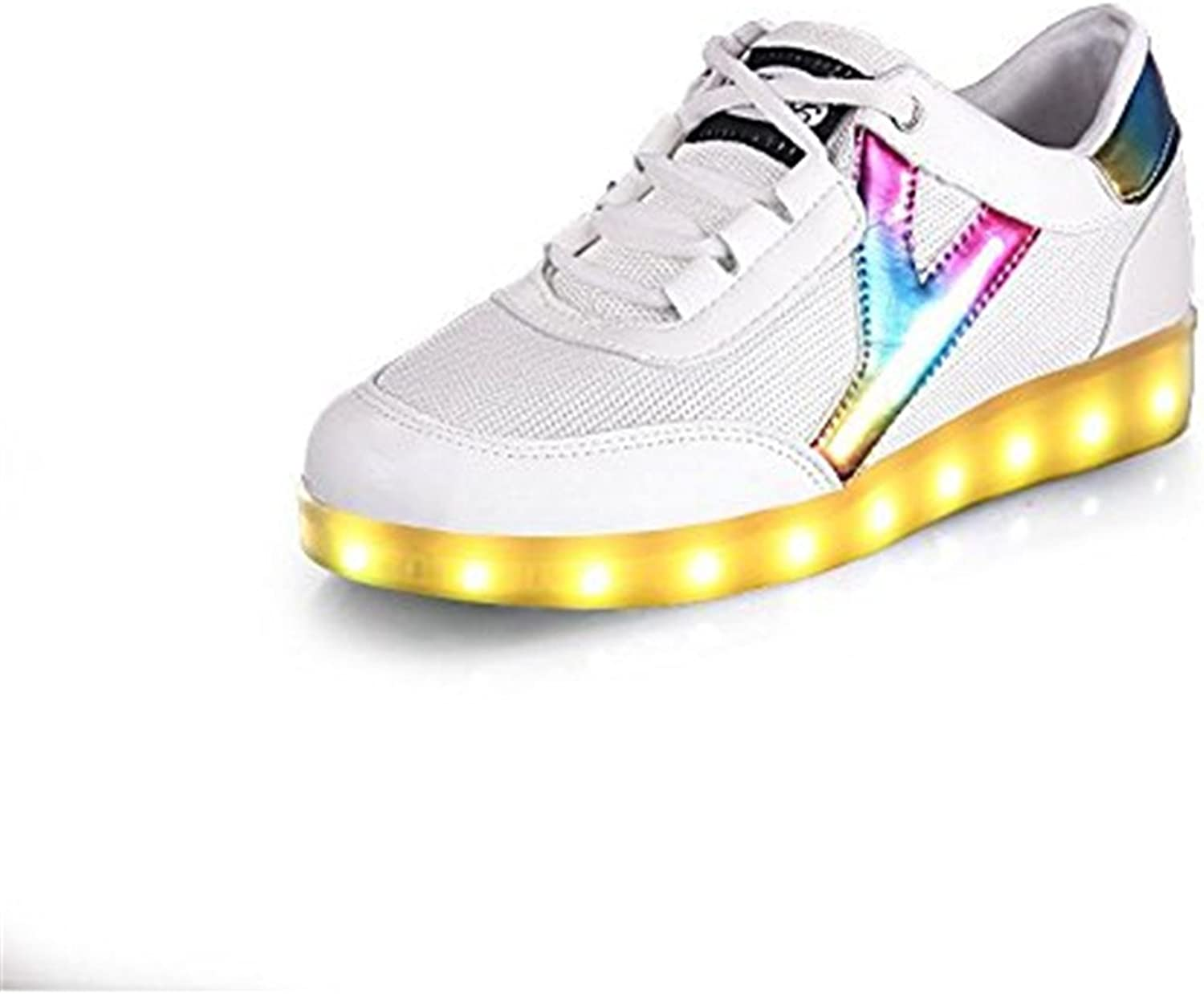 Reinhar Prevailing 7 colors LED Luminous shoes Unisex Sneakers Men & Women Sneakers USB Charging Light shoes colorful Glowing Leisure Flat shoes