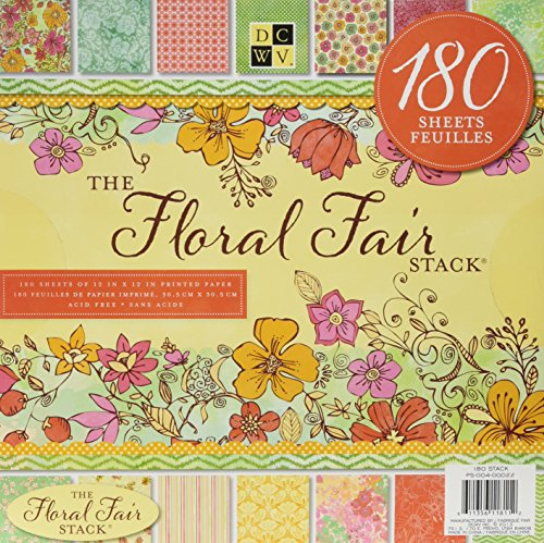 Die Cuts With a View Set De Scrapbooking The Floral Fair Stack 180 Hojas Dcwv 30X30Cm