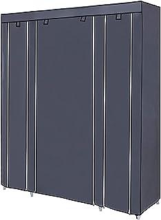 منظم خزانة الملابس غير المنسوجة من القماش خزانة ملابس المحمولة أرفف خزانة خزانة خزانة خزانة خزانة ملابس متينة وقوية للغاية