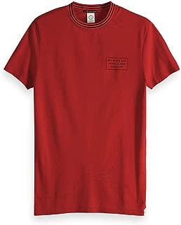 SCOTCH /& SODA T-shirt homme nos Cotton Elastane V-Neck Tee 155896 BLANC 00