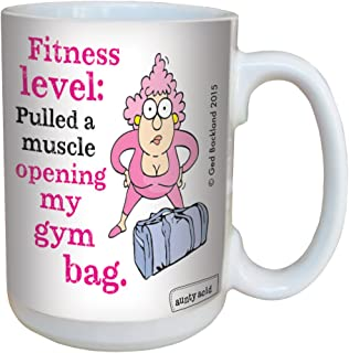 Tree-Free Greetings Aunty Acid Fitness Level Mug with Full-Sized Handle, Ceramic, Multi-Colour, 443 ml