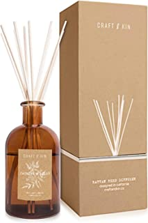 Reed Diffuser Sticks | Jasmine & Lilly Diffuser Reeds Scented Sticks Gift Set Apartment Essentials Soothing & Relaxing Aromatic Diffusers for Essential Oils for Bedroom Living Room Office