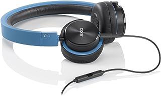 AKG Y40 头戴式耳机 折叠便携式耳机 立体声手机通话耳机 蓝色