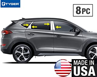 Tyger Auto Made in USA Compatible with 2016-2018 Hyundai Tucson 8PC Stainless Steel Pillar Post W//Diag /& Tri