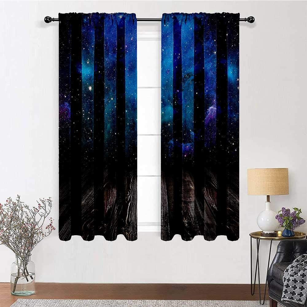 GugeABC Farmhouse low-pricing Kitchen Curtains 96 Length inch Free Shipping New Galaxy Drapes