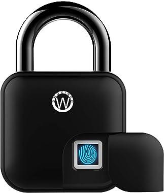 Smart Fingerprint Padlock, Fingerprint Door Lock, Smart Lock, Heavy Duty Biometric Padlock Ideal for Indoor or Outdoor Applic