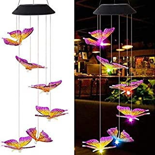 Wind Bell Light Wind Chime Light Fashion Butterfly ABS/PVC Hanging String Lights Spinner