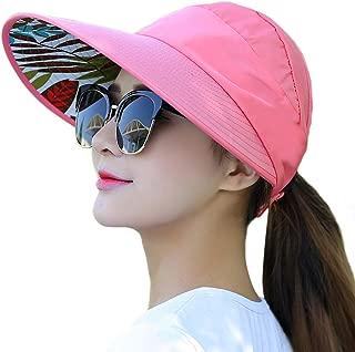Muryobao Women's Wide Brim Sun UV Protection Visor Hats for Beach Fishing