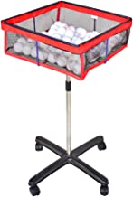 CHAOFAN Movable Square Multi-Ball Storage Mesh Bag with Height Adjustable Stand, Table Tennis Ball Mesh Basin Equipment for Training,Outdoor Sports,Golf,Badminton etc