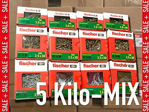 5 kg Schrauben Mix - verschiedene Markenschrauben - Sparpaket/Senkkopf Torx Voll/Teilgewinde Spanplatten