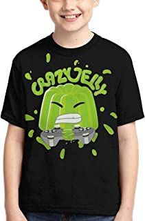 Youth Kids T-Shirts 3D Green Jelly Printed Short Sleeve for Boys Girls Tee Tops