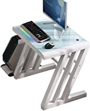 Computer Workstations Tempered Glass Computer Desk, Simple Home Desktop Study Desk, Teenager Furniture Student PC Table, M...