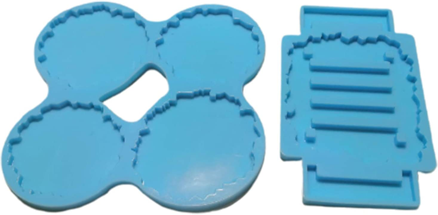 Coaster Attention brand Resin Molds Set with Stand Cheap super special price Mat Epoxy Mold Cup Mo