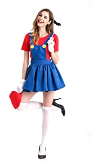 Super Mario Luigi Halloween Costume Super Mario Brothers Fancy Dress Costume for Halloween Christmas Party Cosplay