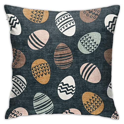 87569dwdsdwd Easter Eggs Natural Blue Square Pillow Case Home Sofa Decorative 18' X 18'Inch Ultra Soft Comfortable