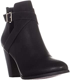 CALL IT SPRING Womens Tecia Round Toe Ankle Cold Weather Boots, Black, Size 8.0