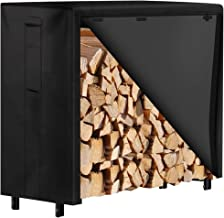 Amagabeli 4ft Firewood Rack with Waterproof Cover Combo Set Outdoor Log Holder for Fireplace Heavy Duty Wood Stacker for P...