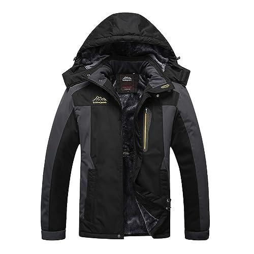 Liangpin Women Winter Waterproof Ski Jacket Extremely Warm Insulted Fleece Snow  Coats Fur Hood Snowboarding Plus a782a89f9