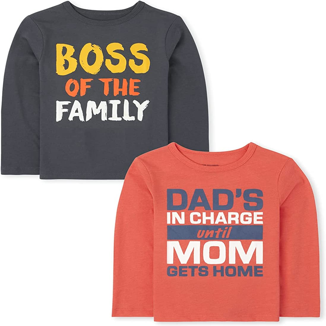 The Children's Place Baby Toddler Boy Long Sleeve Graphic T-Shirt 2-Pack