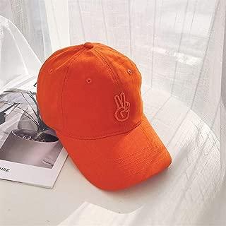 ZiWen Lu Hat Female Summer Baseball Cap Korean Tidal Fashion Casual Men's Wild ins Scissorhands Hip-hop Cap (Color : Orange, Size : Adjustable)
