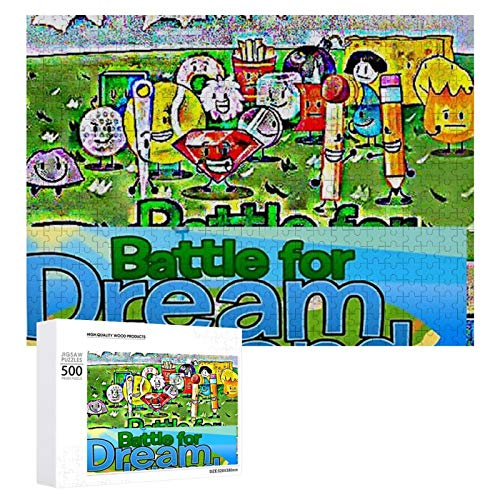 """Wooden Puzzle 500 Pieces Puzzles, Jigsaw Puzzles-A BFDI,Educational Intellectual Decompressing Fun Game for Kids Adults Toy 20.5""""x15"""" inch …"""