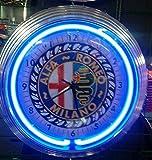 OLD ALFA ROMEO MILANO - Orologio da parete al neon da officina - stile USA 50