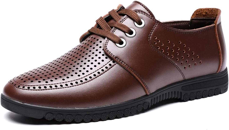 EGS-schuhe Schnüren Sie Sich Oben Art-Mikrofaser-Leder-Sommer-Hohle Reine Farben-niedrige Spitzen-Oxford-Schuhe für für Mann-Formale Schuhe,Grille Schuhe (Farbe   Braun, Größe   39 EU)  preiswert kaufen