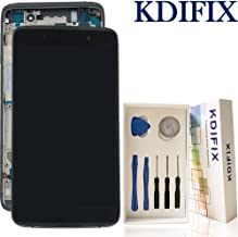 KDIFIX for BlackBerry DTEK50 STH100-1 LCD Touch Screen Assembly + Frame with Full Professional Repair Tools kit (Black) (Black+Frame)
