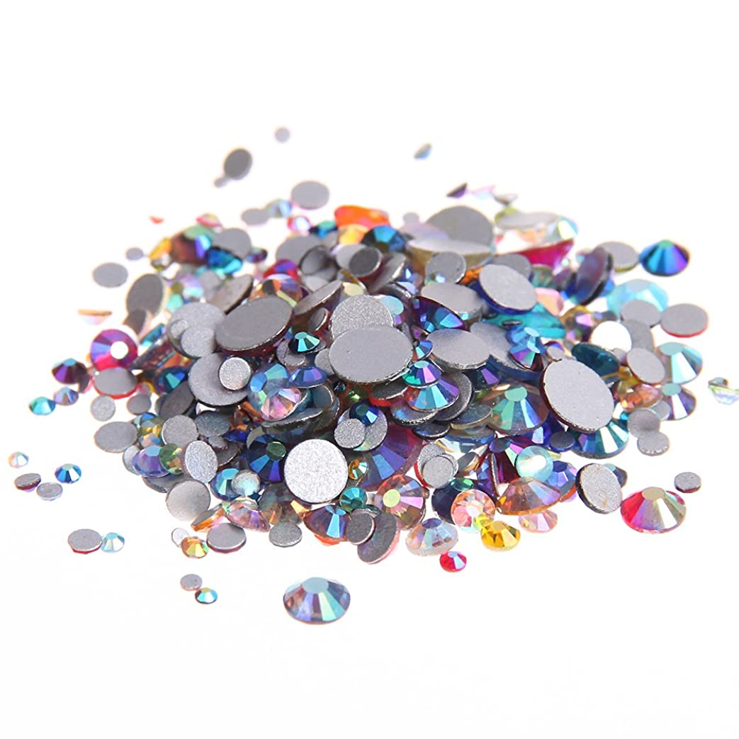 オズワルドはい前進Nizi ジュエリー ブランド 混合ABの色 ラインストーン はガラスの材質 ネイル使用 型番ss3-ss30 (混合サイズ 1000pcs)