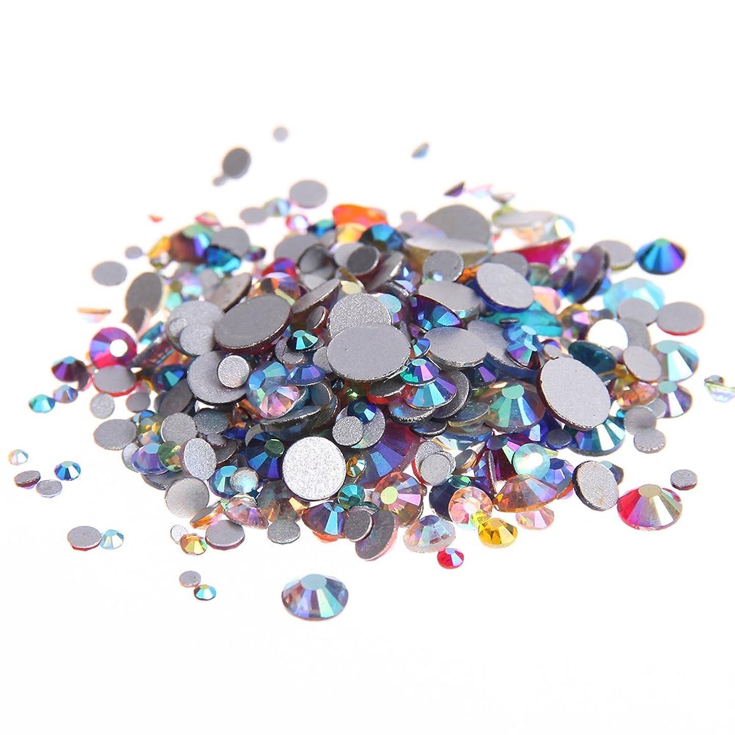 時代遅れうるさい地殻Nizi ジュエリー ブランド 混合ABの色 ラインストーン はガラスの材質 ネイル使用 型番ss3-ss30 (混合サイズ 1000pcs)