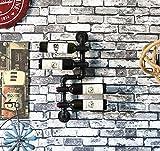 LSNLNN Porte-Vins, Porte-Vin D'Affichage de Support Mural Suspendu Fer À Vin Titulaire de La Tasse de Vin de Stockage - Décoration D'Intérieur Vintage,A