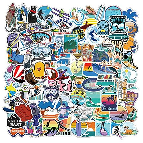 SHUYE Pegatinas de Graffiti para Surf de esquí, Pegatinas Personalizadas para Ordenador portátil, Equipaje de Motocicleta, Pegatinas Impermeables 100 Hojas
