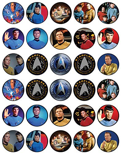 Star Trek Edible Cupcake Toppers (Pack of 30)