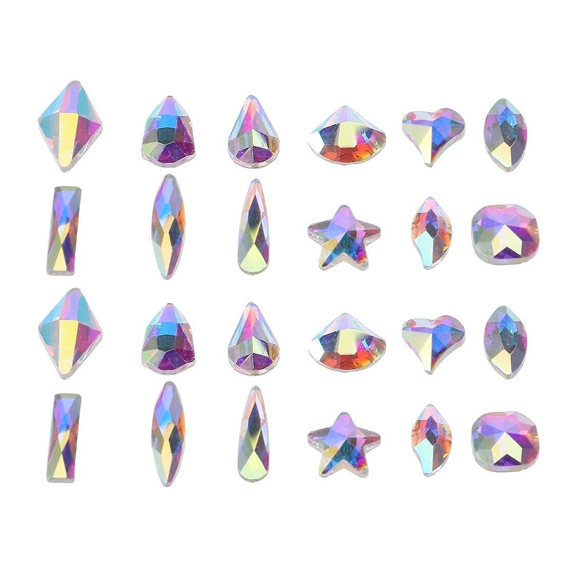 学習者天才光Lurrose 240ピースアクリルネイルアートネイルアートラインストーンキット用diyネイルアート用品アクセサリー