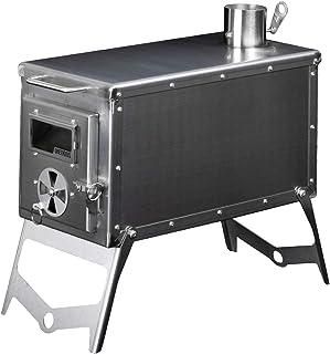 OneTigris Tiger Roar trä ugn camping spis system ROC serie tält träugn med rör & läderhandskar