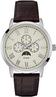 ساعة ديلانسي للرجال بمينا بلون بيج وسوار جلدي من جيس-W0870G1