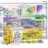 qollorette Malset für Kinder mit Malrolle, Buntstiften,