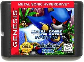 The Crowd Tradensen Metal Sonic Hyperdrive Carte de Jeu 16 Bits pour Sega Mega Drive pour Genesis