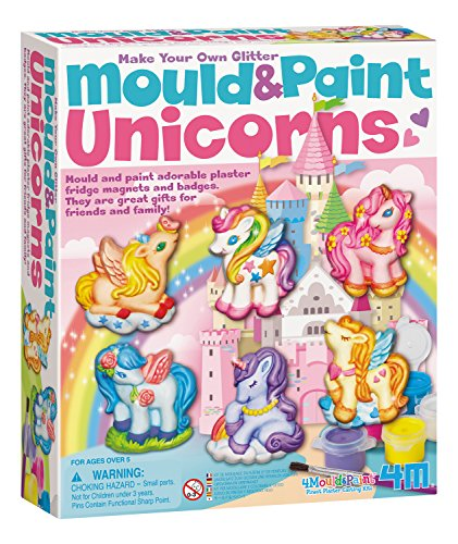 4M Unicorns Mold & Paint Kit - DIY Paint Arts & Crafts Sculpture Kit for Kids - Fridge, Locker, Party Favors, Project Gifts for Boys & Girls